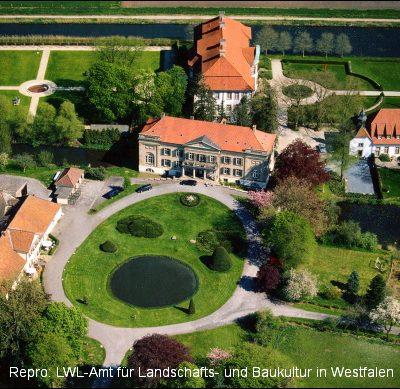Luftaufnahme von Schloss Harkotten