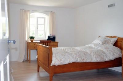 Übernachtung auf Rittergut Bocka: Eines unserer Einzelzimmer