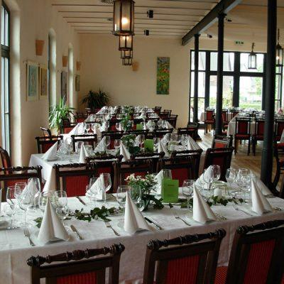 Rittergut Meinbrexen - Festlich geschmückter Saal