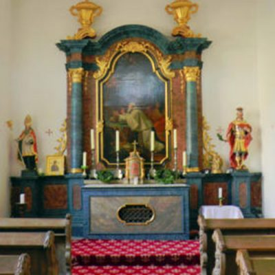 Schloss Harkotten - Schlosskapelle mit Altar