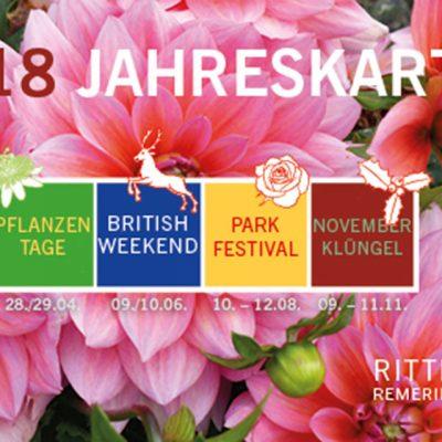 Jahreskarte für alle 4 Veranstaltungen auf Rittergut Remeringhausen